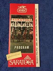 MINT 1997 TRAVERS PROGRAM AWESOME AGAIN SIRE OF GHOSTZAPPER TALE OF THE CAT