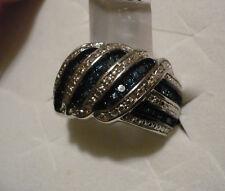 Blue & White Diamond Ring Size 7  37 diamonds .45tcw MSRP$887