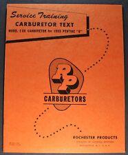 1955 Pontiac Rochester Carburetor Service Brochure Star Chief 860 870 Original
