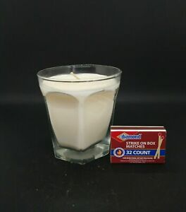 Autumn Air Scented Handmade 6oz Soy Candle into Rocks Glass