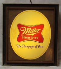 Vintage Miller High Life LIGHTED Beer Sign