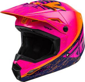Fly Racing K120 Helmet (2X-Large, Orange/Pink/Black)