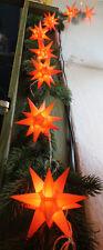 10er LED Sternenkette innen / außen Weihnachten orange Stern-Kette Lichterkette