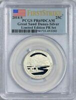 2014-S Great Sand Dunes-Silver Ltd Edition PR Set Quarter 25c PCGS PR69DCAM F/S