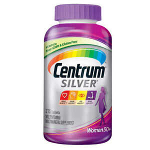 Centrum Silver Women 50+ 275 Tablets. Multivitamin Multimineral Gluten Free