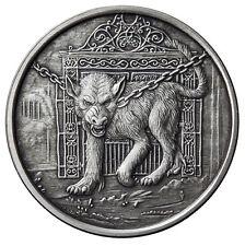1 OZ GARM ANTIQUE .999 Silver w/ COA NORDIC CREATURES #4 VIKING VALKYRIE