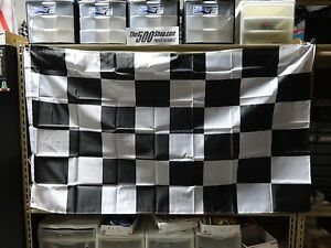 """Checkered Racing Flag Banners New 35"""" x 60"""" IndyCar Indy 500 Nascar USAC F-1"""