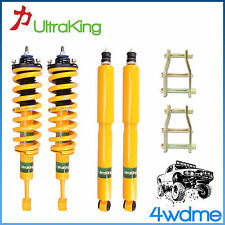 "Nissan Navara D40 Front Rear Shocks + KING Coil Springs + Shackles 2"" Lift Kit"