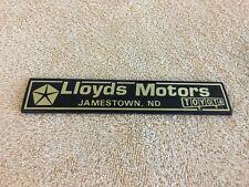 Plastic Lloyds Motors Toyota Jamestown ND Car Dealership Emblem