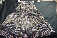 Gap Black Tan Sleeveless Cotton Sundress X-Small Women's Dress