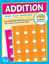 NEW 10pg Wipe-Clean Addition Reusable Workbook - Elementary School Math Teaching