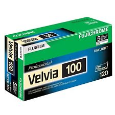 Fuji RVP 120 Fujichrome Velvia 100 Color Slide Film 5 Pack - Exp. 8-2015