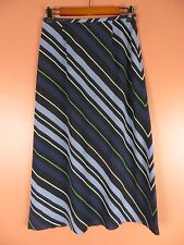 SK08874- TALBOTS Woman 100% Silk Full Flared Skirt Multi-Color Striped Sz 6P