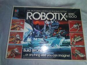Vintage ROBOTIX Expansion Series R-1500 Motorized Modular Building System w/Box
