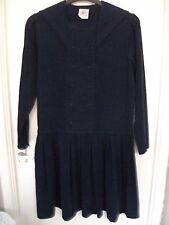 "Laura Ashley ""Marinero"" Vintage vestido, en Marina needlecord. Talla 12 (Loose Fit)"