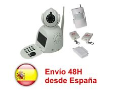 Kit Alarma con pantalla LCD + Camara DMZ control con movil y P2P