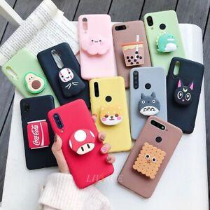 3D silicone cartoon case for huawei y9 y7 y6 y5 prime pro 2019 2018 phone caseS