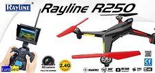Rayline R250 2,4Ghz Quadrokopter - Kamera-Drohne mit FPV System (Livebild)