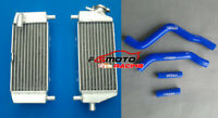 For KAWASAKI KX125 KX 125 2003-2008 04 05 06 2007 Aluminum Radiator + Blue Hose