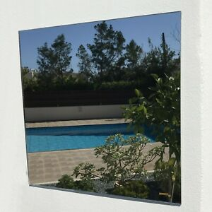 Square Garden Mirrors - Shatterproof Safety Acrylic - Many Sizes