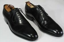 $1100 J M WESTON Black Whole Cut Shoes 7E UK, 8US. Scrolled Toe Balmorals