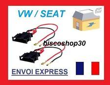 Seat Cordoba 99 - 02 Speaker Adaptor Plug Leads Cable Connectors Pair