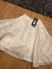 Ladies AX Paris Skirt Lined Bnwt Uk 8 Cream / White
