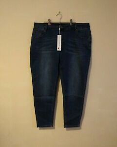 New Love Your Wardrobe Blue Jeans Ankle Length Womens Size 22