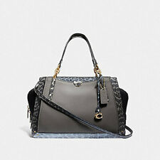 COACH DREAMER IN COLORBLOCK WITH SNAKESKIN DETAIL(76459) B4/HEATHER GREY MULTI