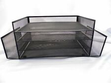 Officemax Metal Black Mesh Desk Organizer Office Papers Mail Tray