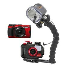 Mozaik PT-059 Underwater Housing AND Olympus TG-6 Camera w/Sea and Sea YS-03 Sol