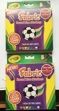Crayola Fabric Markers, Assorted, 8/Set - CYO588179 ( 2 boxes )