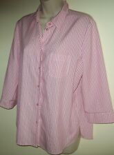 Fella Hamilton pink & white striped shirt/blouse Size 10
