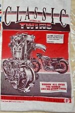 """N.O.S. """"BRITISH MOTORCYCLES~CLASSIC TWINS 1956~NO.1 IN THE WORLD"""" TEES~X-LARGE"""