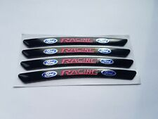 Ford Racing ST RS Alloy Wheel Badges Black x4