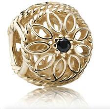 PANDORA Charm - 14k Gold & Spinel Delicate Beauty