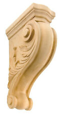 "Iww301- 8"" 11""or 13"" Leaf Corbel Hand-Carved Solid Hardwood Oak, Maple or Cherry"