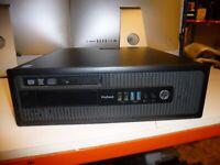 HP PRODESK 600 G1 SFF DESKTOP PC i3-4130, CPU 3.40 GHZ 4GB RAM, 500GB RAM Win 10
