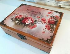 Wooden Keepsake Box, Decorative Box, Wood Box, Jewelry Box, Tea Bag Box, Patt 3