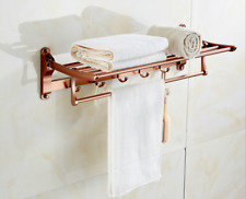 Luxury Space Aluminum Rose Gold Bathroom Shelves Towel Rack Towel Bar Wth Hook