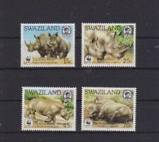Swaziland 1987 postfrisch  MiNr. 528-531  WWF  Breitmaulnashorn