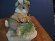 "Vintage Enesco ""My Blushing Bunnies' Wintertime Blessings by Pricilla Hillman"
