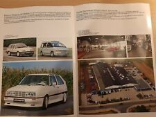 ZENDER VW GOLF ESPACE SIERRA vintage car sales brochure German text prospekt