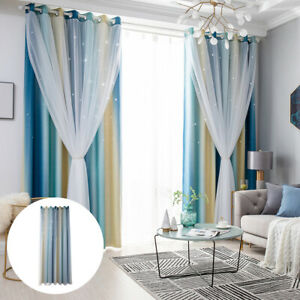 1Panel Blackout Curtain for Livingroom Extra Long Thermal Insulated Solid