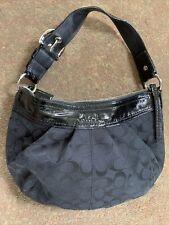 Black Coach Signature Soho Shoulder Bag Purse F13740