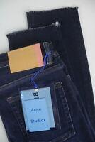 UVP $210 Acne Studios Peg Dark Blue Damen W29 L27 Blå Konst Röhrenjeans 6464_