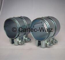 2 pièces connecteur de tuyau d'échappement / COLLIER DOUBLE 63 x 70 mm BMW ,mini