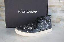 DOLCE & GABBANA T 41,5 Baskets High Top tête de mort Chaussures Noir Nouveau Prix Recommandé 495 €