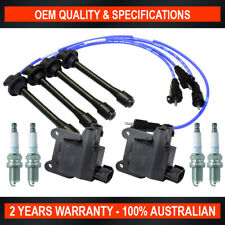2x Swan Ignition Coil w/ NGK Spark Plugs & Lead Kit for Toyota Hilux RZN 2.7L