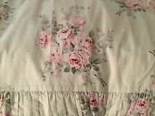 Rachel Ashwell shabby chic, Bella Rose Green, queen size Duvet , retired